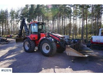 HUDDIG 860D Back Hoe Loader with various tools - grävlastare