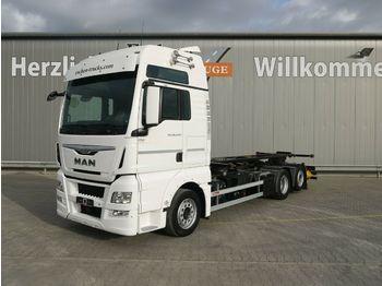 Containerbil/ växelflak lastbil MAN TGX 26.440 LL Intarder*Göbel Multi Hub*Lenk/Lift
