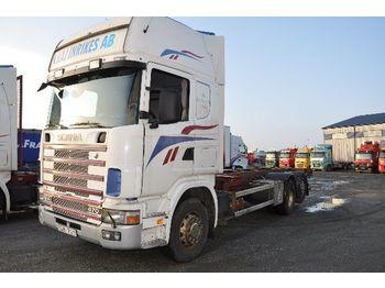 Containerbil/ växelflak lastbil SCANIA 124 470