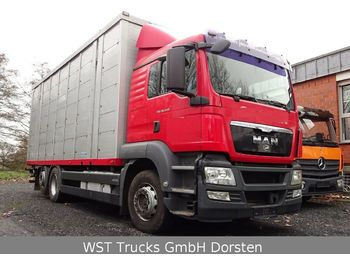 MAN TGX 26.440 LX Menke 3 Stock Hubdach  - djurtransport lastbil