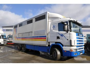 Djurtransport lastbil SCANIA R124 LB6X2NB400