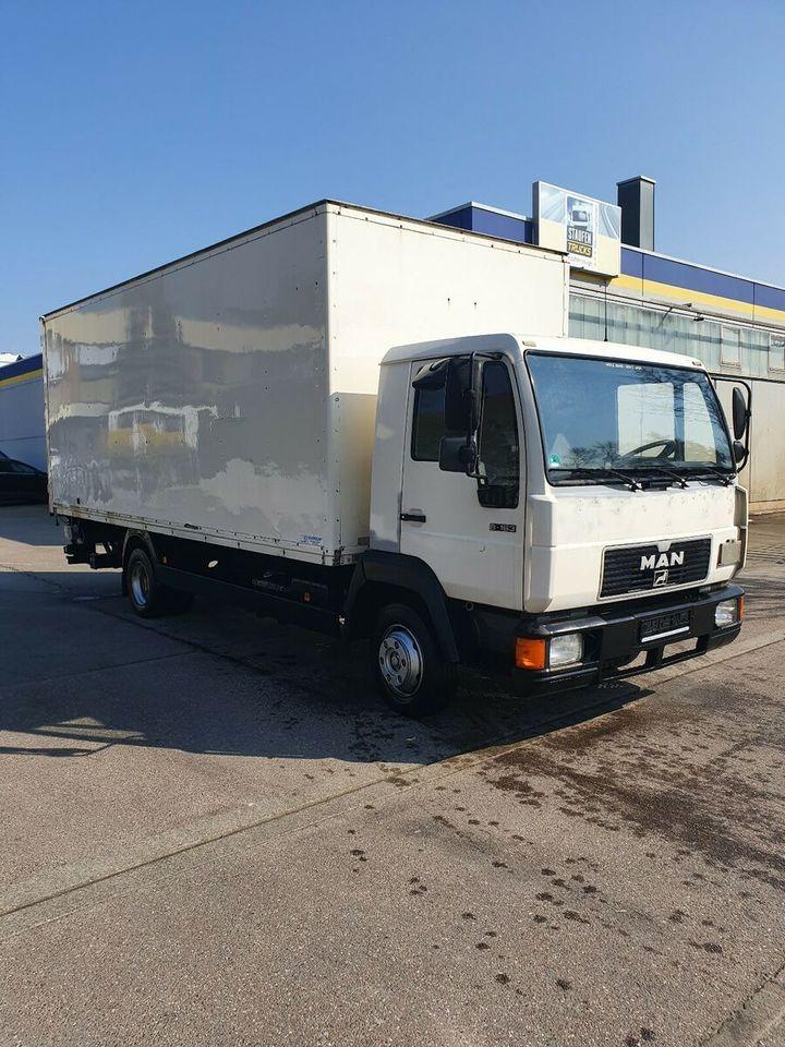 lastbil med skåp MAN 8.163 Koffer U-LBW TÜV NEU!! Schalter