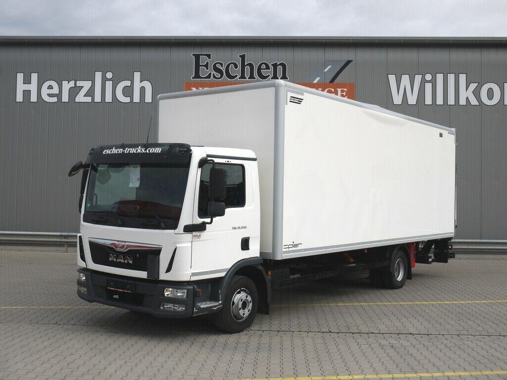 lastbil med skåp MAN TGL 12.250 BL 4x2, EUR 6, Spier Koffer, LBW,
