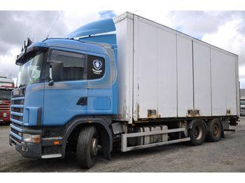 Lastbil med skåp SCANIA 124 6X2 400 rep.-obj