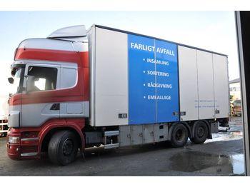 Lastbil med skåp SCANIA R470/420 utbytesmotor
