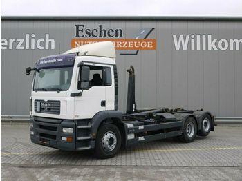 Lastväxlare lastbil MAN TGA 26.360 6x2-2 BL, Meiller RK 20.65, Bl/Lu