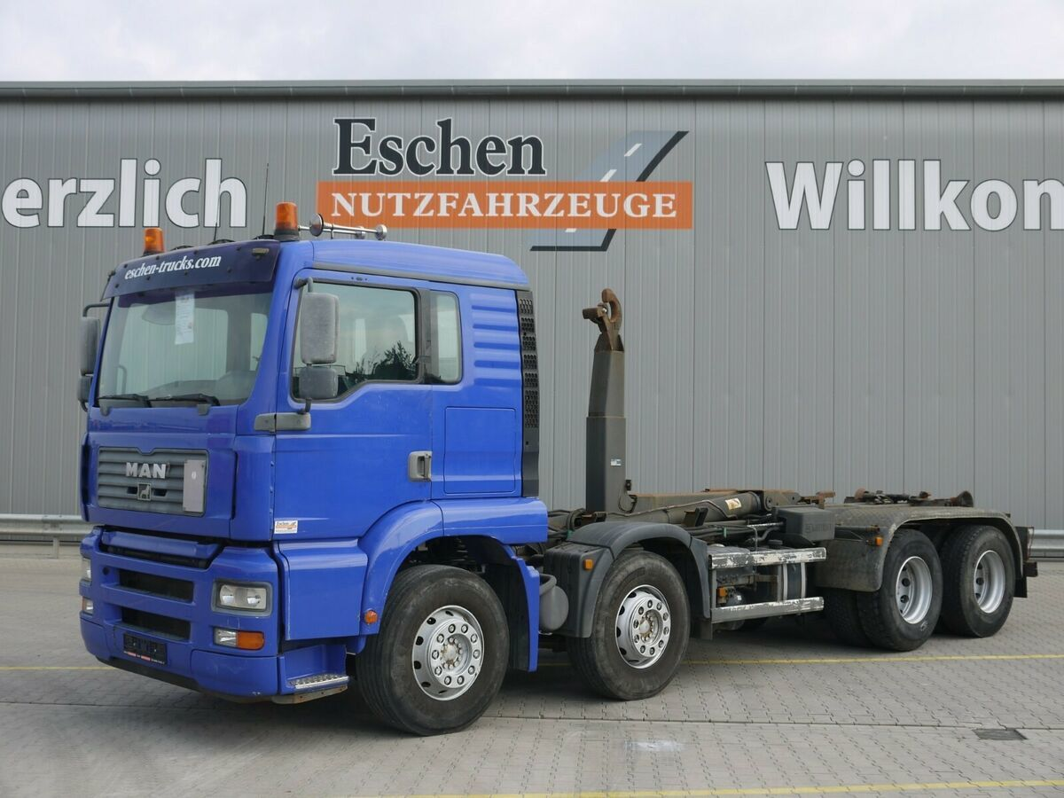 lastväxlare lastbil MAN TGA 35.360 FFDLC, 8x4, EUR 3,Multilift LHS 32061