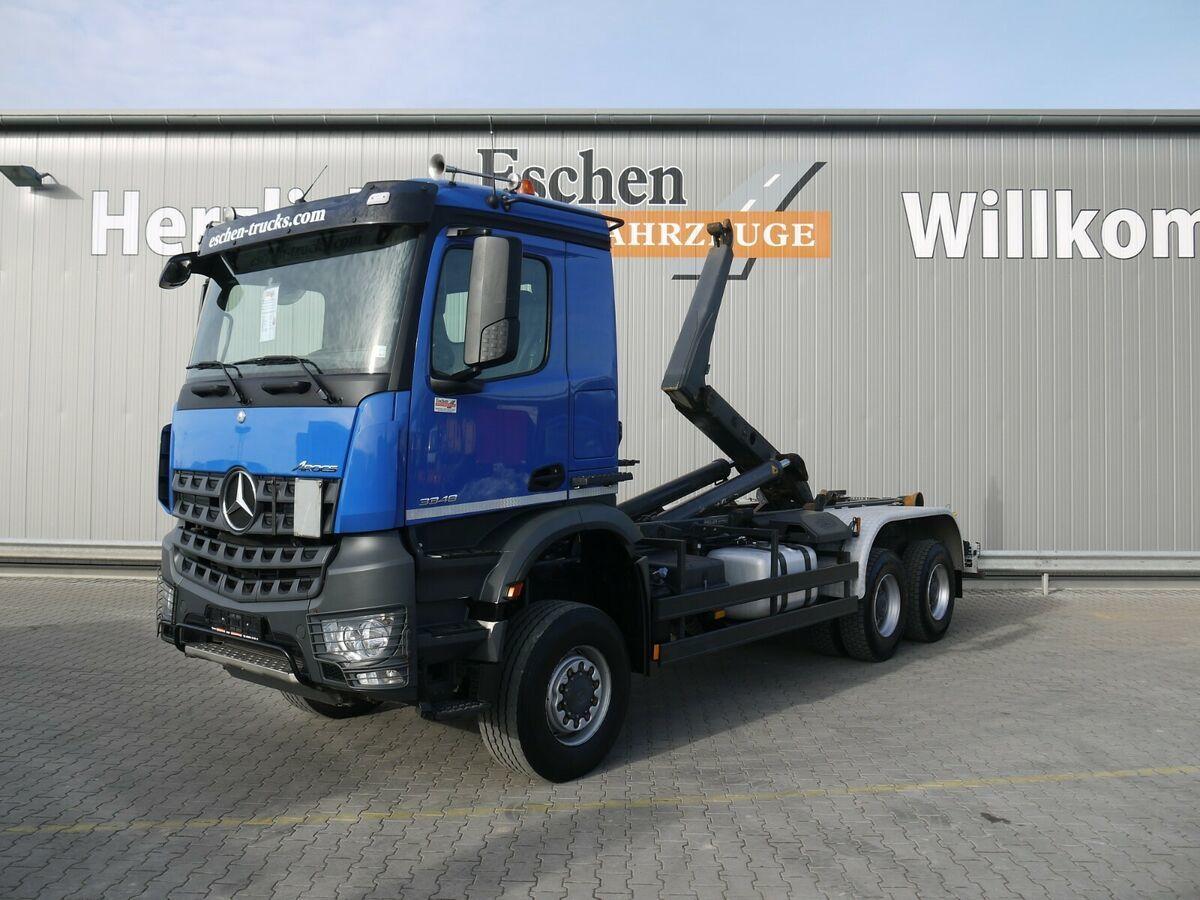 lastväxlare lastbil Mercedes-Benz Arocs 3348 AK 6x6 BB, Meiller RK 20.65, 1. Hand
