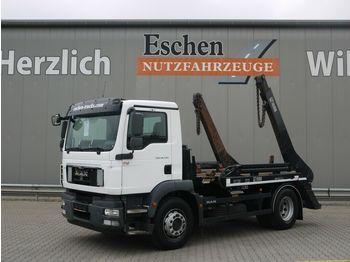 Liftdumper lastbil MAN TGM 18.290 BB*HIAB Multilift SLT142 Tele*Klima