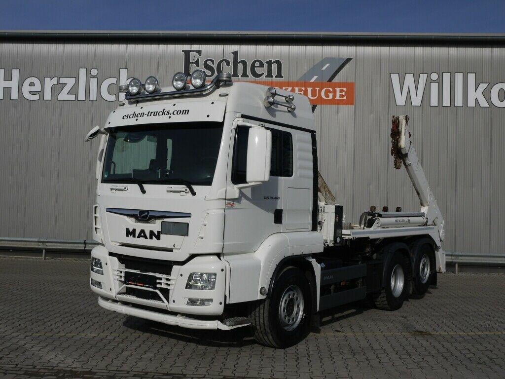 liftdumper lastbil MAN TGS 26/28.460 6x2-4BL Meiller AK16, Funk, 1.Hand