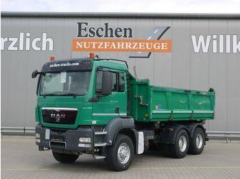 Tippbil lastbil MAN TGS 26.440 6x6 H Meiller 3-S-Kipper, Bordmatik