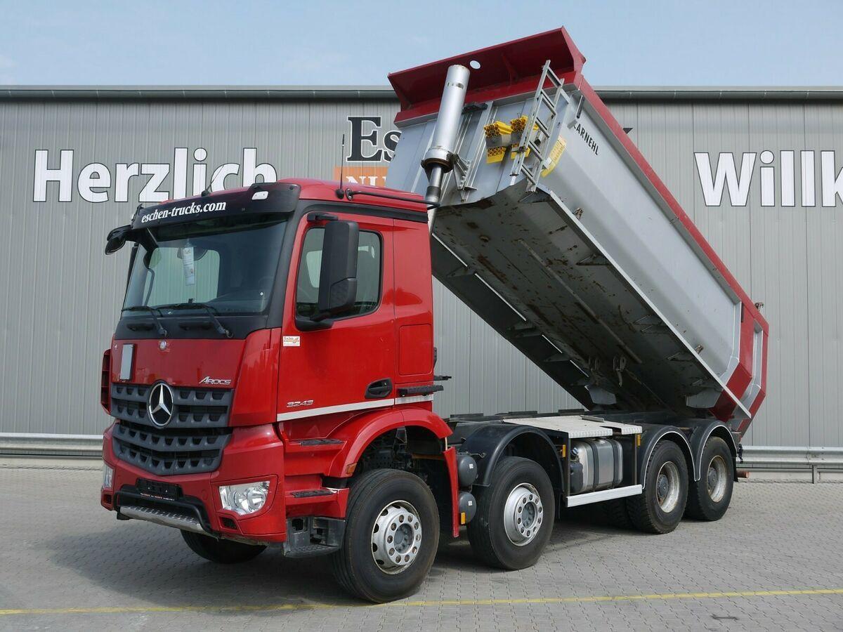 tippbil lastbil Mercedes-Benz Arocs 3243 8x4 Carnehl Hardox Mulde, Blatt/Blatt