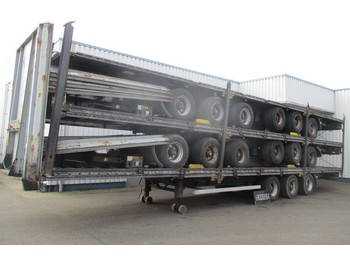 LAG Stack of 5 Mega Trailers , 3 BPW Axle , 2 driving positions , Drum Brakes , Air Suspension - chassi semitrailer