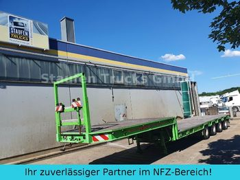 Låg lastare semitrailer Broshuis 4-Achs SEMI Tieflader extendable 58 to