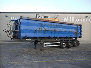 Tippbil semitrailer Carnehl WDE 48m³ Stahl, Luft-Lift, Plane, Podest, SAF
