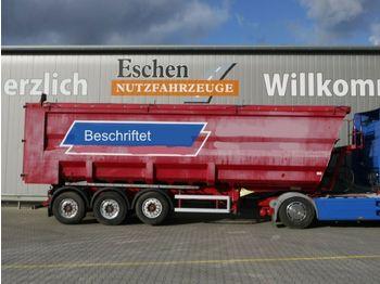 Tippbil semitrailer Kempf SKM 35/3, 51 m³ Stahlmulde, Leichtmetallfelgen