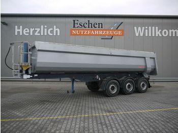 Tippbil semitrailer Langendorf SKS-HS 24/28, 27 m³ Stahl, Plane, Luft/Lift, SAF