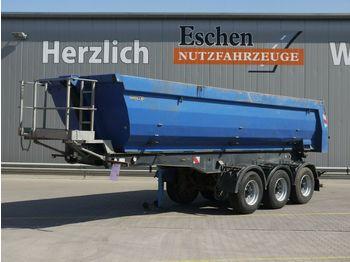 Tippbil semitrailer Meiller 27m³ Stahlmulde, BPW, Luft/Lift