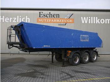 Tippbil semitrailer Meiller MHKS41/3, 24m³ Alu, Plane, Podest, Luft/Lift,BPW