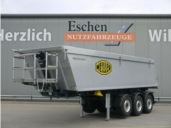 Tippbil semitrailer Meiller MHK 44.3N 27m³Alu*5100kg*Luft/Lift*7mm*AluFelgen