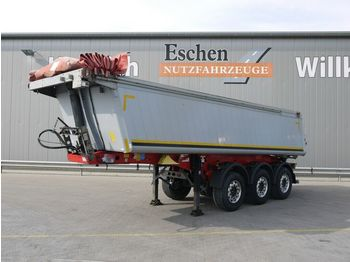 Tippbil semitrailer Schmitz Cargobull SKI 24, 24m³ 2xLiftachse, Alu, E-Verdeck, SAF