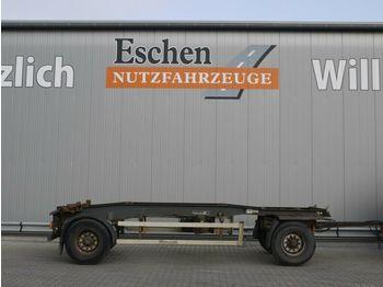 Containerbil/ växelflak trailer Hüffermann Schlitten, Luft, BPW