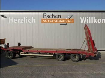 Låg lastare trailer Langendorf TUE 24/100-3, hydr. Rampen, Blatt, BPW